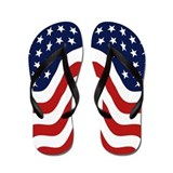 Red white and blue Flip Flops
