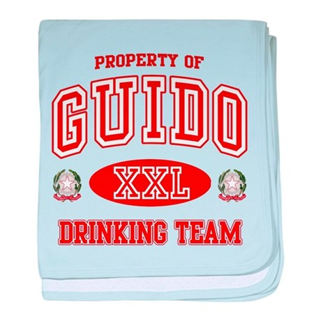 Guido Italian Drinking Team baby blanket