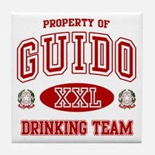 Guido Italian Drinking Team Tile Coaster