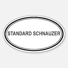 Standard Schnauzer Oval Decal