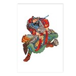 Japanese Samurai Warrior Postcards (Package of 8)