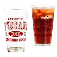 Ferrari Italian Drinking Team Drinking Glass