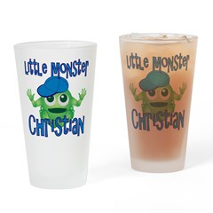 Little Monster Christian Drinking Glass