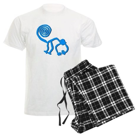 Nazca Monkey Sky Blue Men's Light Pajamas