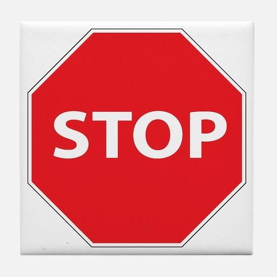 STOP Tile Coaster