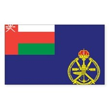Oman Naval Ensign Rectangle Decal