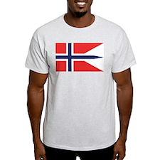 Norway State Flag Ash Grey T-Shirt