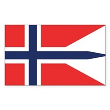Norway State Flag Rectangle Decal