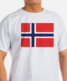 Norway Flag Ash Grey T-Shirt