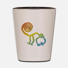 Nazca Monkey Groovy Light Colors Shot Glass