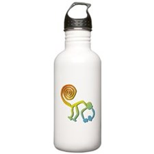Nazca Monkey Groovy Light Colors Water Bottle