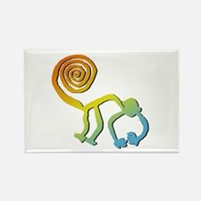 Nazca Monkey Groovy Light Colors Rectangle Magnet