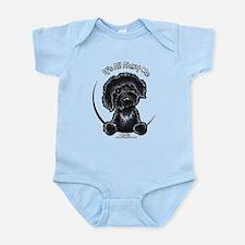 Black Labradoodle IAAM Infant Bodysuit