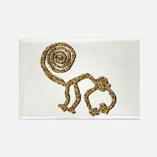 Nazca Monkey in Leopard Print Rectangle Magnet (10