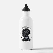 Black Labradoodle IAAM Water Bottle