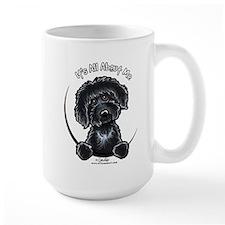 Black Labradoodle IAAM Coffee Mug