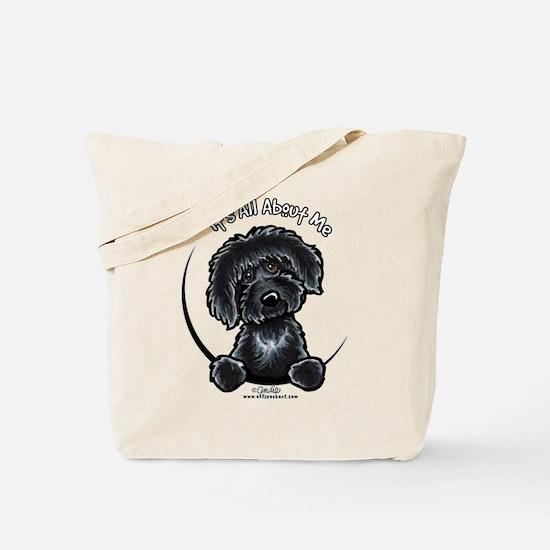 Black Labradoodle IAAM Tote Bag