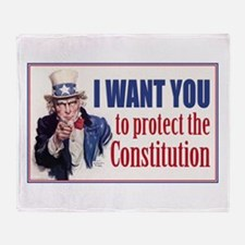 to Protect the Constitution Throw Blanket