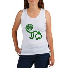 Nazca Monkey in Groovy Green Women's Tank Top