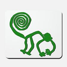 Nazca Monkey in Groovy Green Mousepad