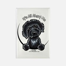 Black Labradoodle IAAM Rectangle Magnet