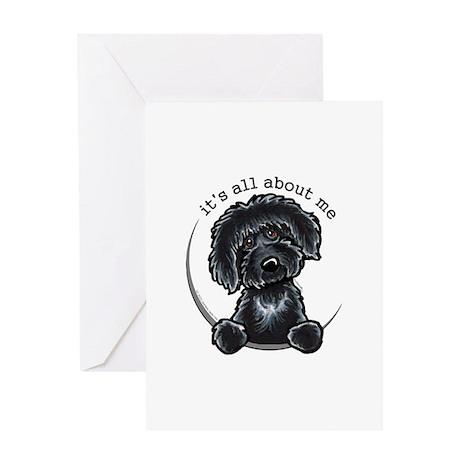 Black Labradoodle IAAM Greeting Card