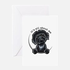 Black Labradoodle IAAM Greeting Card