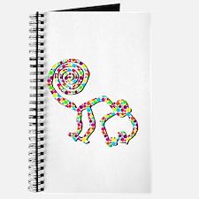 Polka Dot Nazca Monkey Journal
