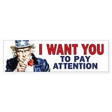 Uncle Sam: Classroom Bumper Sticker