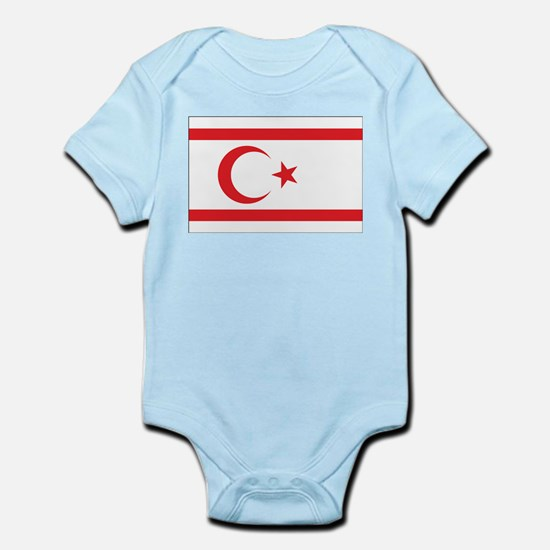 Northern Cyprus Flag Infant Creeper