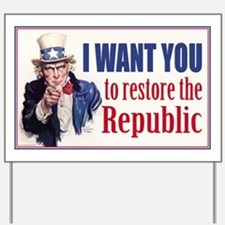 Uncle Sam - Restore the Repub Yard Sign