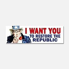 Uncle Sam - Restore the Repub Car Magnet 10 x 3
