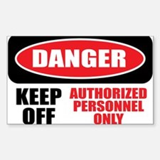 Danger Authorized Decal