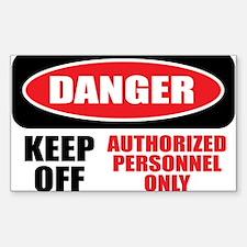 Danger Authorized Sticker (Rectangle)