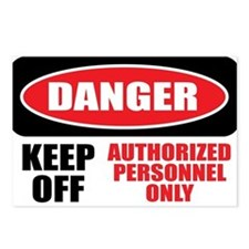 Danger Authorized Postcards (Package of 8)