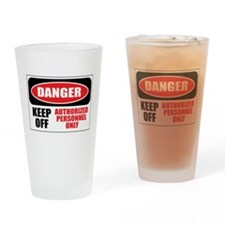 Danger Authorized Drinking Glass