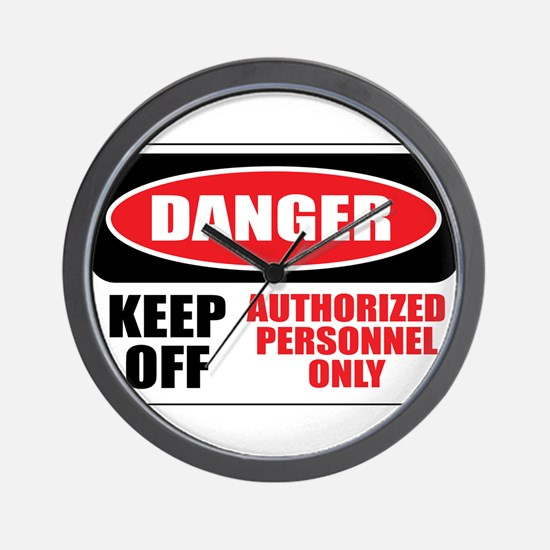 Danger Authorized Wall Clock