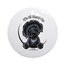 Black Labradoodle IAAM Ornament (Round)
