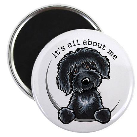 """Black Labradoodle IAAM 2.25"""" Magnet (100 pack)"""