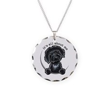Black Labradoodle IAAM Necklace