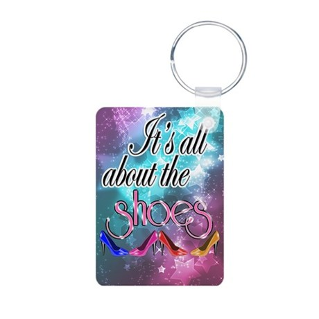 All About the Shoes Aluminum Photo Keychain