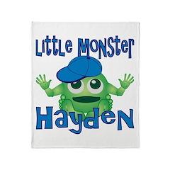 Little Monster Hayden Throw Blanket