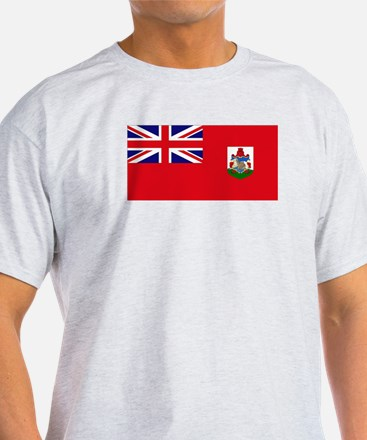 Bermuda Flag Ash Grey T-Shirt