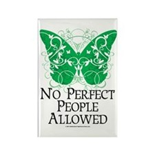 No Perfect People Allowed Rectangle Magnet