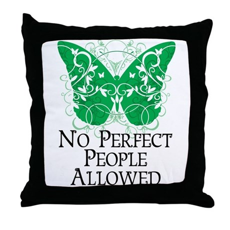 No Perfect People Allowed Throw Pillow