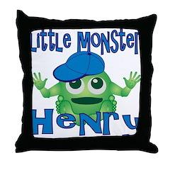 Little Monster Henry Throw Pillow