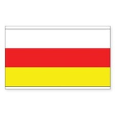 North Ossetia-Alania Flag Rectangle Decal