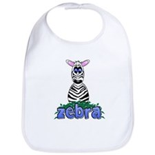 Cartoon Zebra Bib