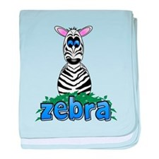Cartoon Zebra baby blanket
