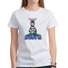 Cartoon Zebra Tee